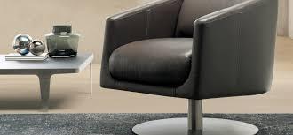 Natuzzi Swivel Tub Chair by Liu Natuzzi Italia