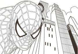 Download Coloring Pages Spiderman Page Free Printable For Kids Line Drawings