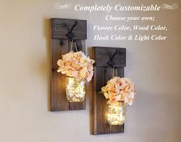 wall sconces farm house decor hanging jar wall sconce