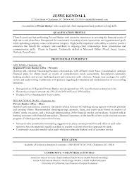 Bankers Resume Sample Private Banker Personal Banking Example Free