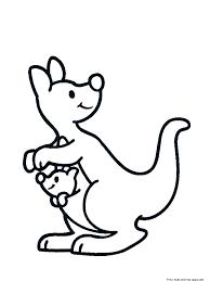 Printable Australia Animal Kangaroo Coloring Pages For KidsFree
