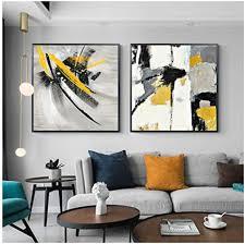 yisasa abstrakte leinwand malerei gelbe poster und drucke