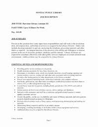 Job Description For Library Assistant New Resume Examples Printable