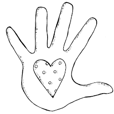 Handprint Clipart Outline Pencil And In Color