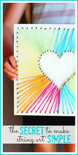 Crafts Heres A Simple Way To Do String Art