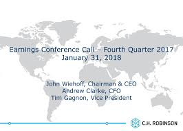 C.H. Robinson Worldwide Inc. 2017 Q4 - Results - Earnings Call ... Span Alaska Shipping To From Supply Chain Connectivity Together Is Smart Raconteur Xpo Logistics Sale Of Conway Truckload Assets To Have Marginal Ch Robinson Worldwide Inc 2017 Q4 Results Earnings Call Freight Operators Dmiss Threat Of Digital Startups Wsj Company Profile Global Trade Bundling Lanes Can Improve Rates And Service Transportfolio The First Zero Emission Trucking Logisticsmatter Hurt By Weak Pricing Imperial Truck Driving School 3506 W Nielsen Ave Fresno Ca 93706 Mover Pickup Truck C H Transport 1389664 Motor Carriers Recover Their Eld Costs Fleet Owner