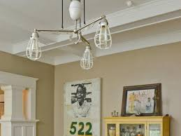 Eclectic Chandlier In Craftsman Style Dining Room