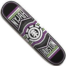 element nyjah huston ride deck in stock at spot skate shop