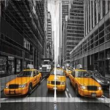 Yellow Cab CURTAIN PANEL SET New York City Black White Living Room