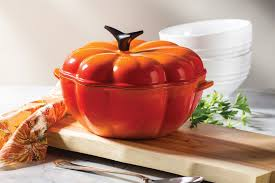 Staub Pumpkin Cocotte by Le Creuset Pumpkin Ovens On Sale Cutlery And More