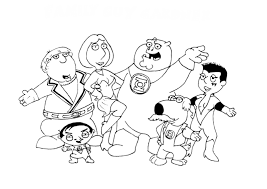 Enjoyable Family Guy Coloring Pages Image 19