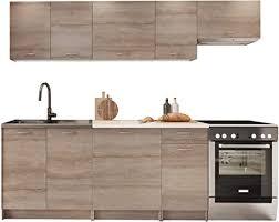 küche mela 180 240 cm küchenblock küchenzeile farbauswahl 7 schrank module kombinierbar trüffel beige