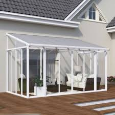 Palram Patio Cover Grey by Palram Sanremo Lean To Conservatory 3x4 25 White Covered Pergola