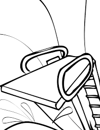 Diving Board Coloring Page