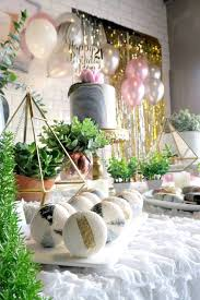 Elegant Marble Inspired 21st Birthday Party On Karas Ideas