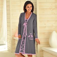 robe de chambre femme peignoir femme volanta imprima coton galerie et robe de chambre