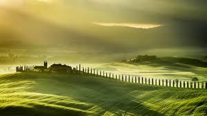 Farm Green Hd Hills Landscape Tuscany Italy Wallpaper
