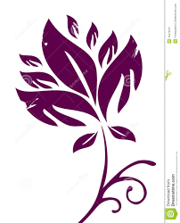 Maroon Flower Pattern Stock Illustration Of Decor