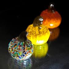 Glass Hand Blown Pumpkins by Custom Hand Blown Glass Made In Salado Texas