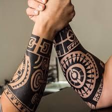 Tribal Forearm Tattoo On TattooChief