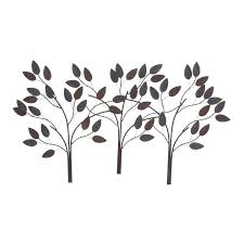 Wayfair Outdoor Wall Decor by Home Design Blue And Brown Metal Wall Art Craftsman Large
