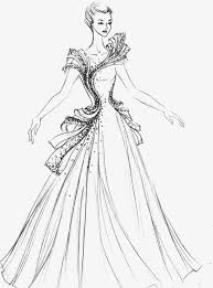 Sexy Dress Design Illustration Artwork Creative Fashion Beautiful Drawings Simple High End Free PNG Image