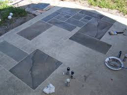 faux painting concrete patio  Design and Ideas