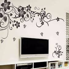DIY Wall Art Decal Decoration Fashion Romantic Flower Sticker Stickers Home Decor 3D
