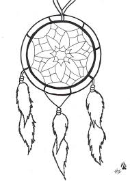 Dream Catcher Coloring Pages Easy
