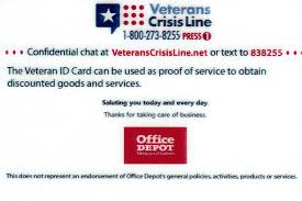 VA ID Cards Include Office Depot Logo | Military.com Office Depot On Twitter Hi Scott You Can Check The Madeira Usa Promo Code Laser Craze Coupons Officemax 10 Off 50 Coupon Mci Car Rental Deals Brand Allpurpose Envelopes 4 18 X 9 1 Depot Printable April 2018 Giant Eagle Officemax Coupon Promo Codes November 2019 100 Depotofficemax Gift Card Slickdealsnet Coupons 30 At Or Home Code 2013 How To Use And For Hedepotcom 25 Photocopies 5lbs Paper Shredding Dont Miss Out Off Your Qualifying Delivery Order Of Official Office Depot Max Thread