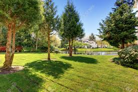 Residential Complex Backyard Garden With Pond, Trees And Sitting ... Garden Design With Backyard Landscaping Trees Backyard Fruit Trees In New Orleans Summer Green Thumb Images With Pnic Park Area Woods Table Stock Photo 32 Brilliant Tree Ideas Landscaping Waterfall Pond Stock Photo For The Ipirations Shejunks Backyards Terrific 31 Good Evergreen Splendid Grass Scenic Touch Forest Monochrome Sumrtime Decorating Bird Bath Fountain And Lattice Large And Beautiful Photos To Select Best For