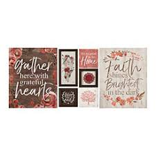 Grateful Hearts Red Floral 7 Pc Nesting Art Set