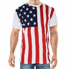 Calhoun Sportswear USA American Flag Stars And Stripes Patriotic Mens T Shirt