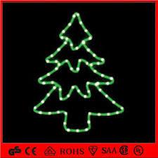 LED Christmas Tree Shape Decoration Rope Motif Light