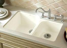 kohler porcelain kitchen sink care white country sinks cast iron