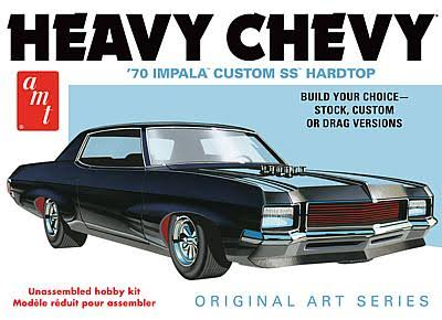 AMT 895 1/25 Scale 1970 Heavy Chevy Impala Original Art Plastic Model Car Kit