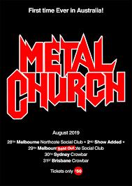 100 Church For Sale Australia METAL CHURCH USA First Ever N Tour