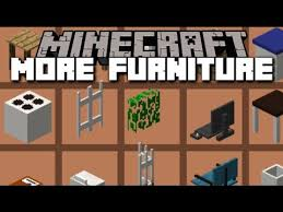 Minecraft MORE FURNITURE MOD BRAND NEW ITEMS FOR A PARTY HOUSE