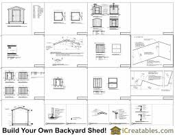8 X 10 Gambrel Shed Plans by 8x10 Shed Plans Storage Shed Build A Shed Icreatables Com