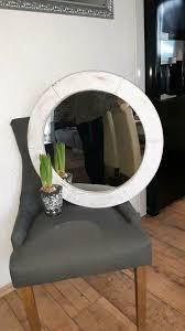 shabby chic landhaus spiegel rund vintage weiß wandspiegel