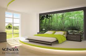 chambre foret poster foret décoration murale géante paysage de nature