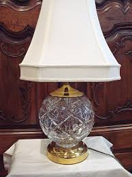 Waterford Lamp Shades Table Lamps by Waterford Crystal And Brass Large Table Lamp Made In Ireland 23