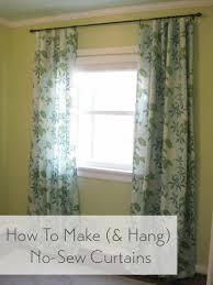 How To Make No Sew Curtains And Make A Window Look Way Bigger