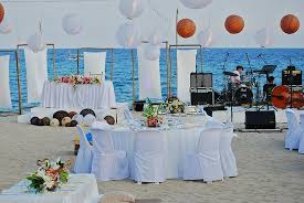Virgin Beach Resort Beachfront Wedding Reception