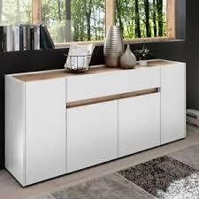 details zu anrichte sideboard 170cm kommode design wohnzimmer schrank matt weiß wotaneiche
