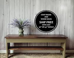 36 Entryway Bench Shoe Storage Shelf Rustic Small Distressed Wood