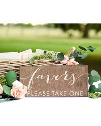Wedding Favor Sign Rustic Favors Bridal Shower Table