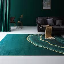 großhandel europäisches licht luxus dunkelgrünen wohnzimmer teppich nordic ins netz rot grün nachtmatte schlafzimmer tisch sofa decke jiguan