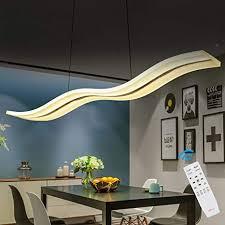 yorking 36w dimmbar led pendelleuchte kronleuchter deckenleuchten welle hängende leuchte höhenverstellbar fernbedienung für esszimmer wohnzimmer