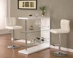 Bar Table Set In Gloss White Finish With 2 Bar Stool By Coaster ... Round High Glass Top Bar Table And Minimalist Adjustable Swivel Home Design Ideas Images On Breathtaking Modern Dimensional In Stainless Steel Chrome With Black Tempered Display Cabinet Small Gammaphibetaocucom Bar Admirable In Kitchen With Counter White Vanity Clear For Displaying Makeup Make Rustic Height Set 5 X 7 Outdoor Rugs Vase Entrancing Bistro Stools Cleaning Pedestal Pub 42 Ding Aosom Hcom 28 Tables Green Accent Open Bars Contemporary Unit Fniture Luxurious